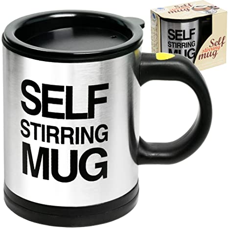 e4a227b25 Self Stirring Coffee Mug Cup - Funny Electric Stainless Steel Automatic  Self Mixing & Spinning Home Office Travel Mixer Cup Best Cute Christmas ...