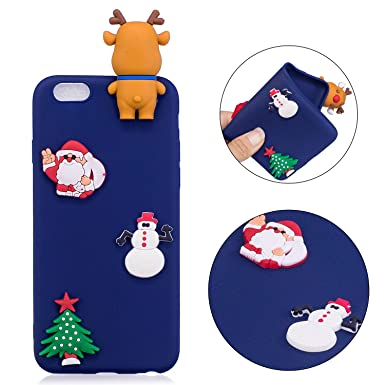 iPhone 6S Plus de Papá Noel sombrero calcetines caso, Squishy para iphone 6 Plus,
