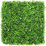 ULAND Artificial Boxwood Hedges Panels, Faux Grass Shrubs Topiary Mat, Greenery Wall Backdrop, Outdoor Indoor Garden Privacy Screen Fence, Pack of 6pcs