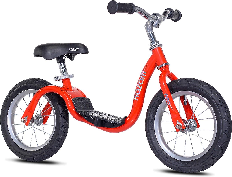 Kazam- Neo Bicicleta sin Pedales, Color Rojo, S (Kent 37444K)