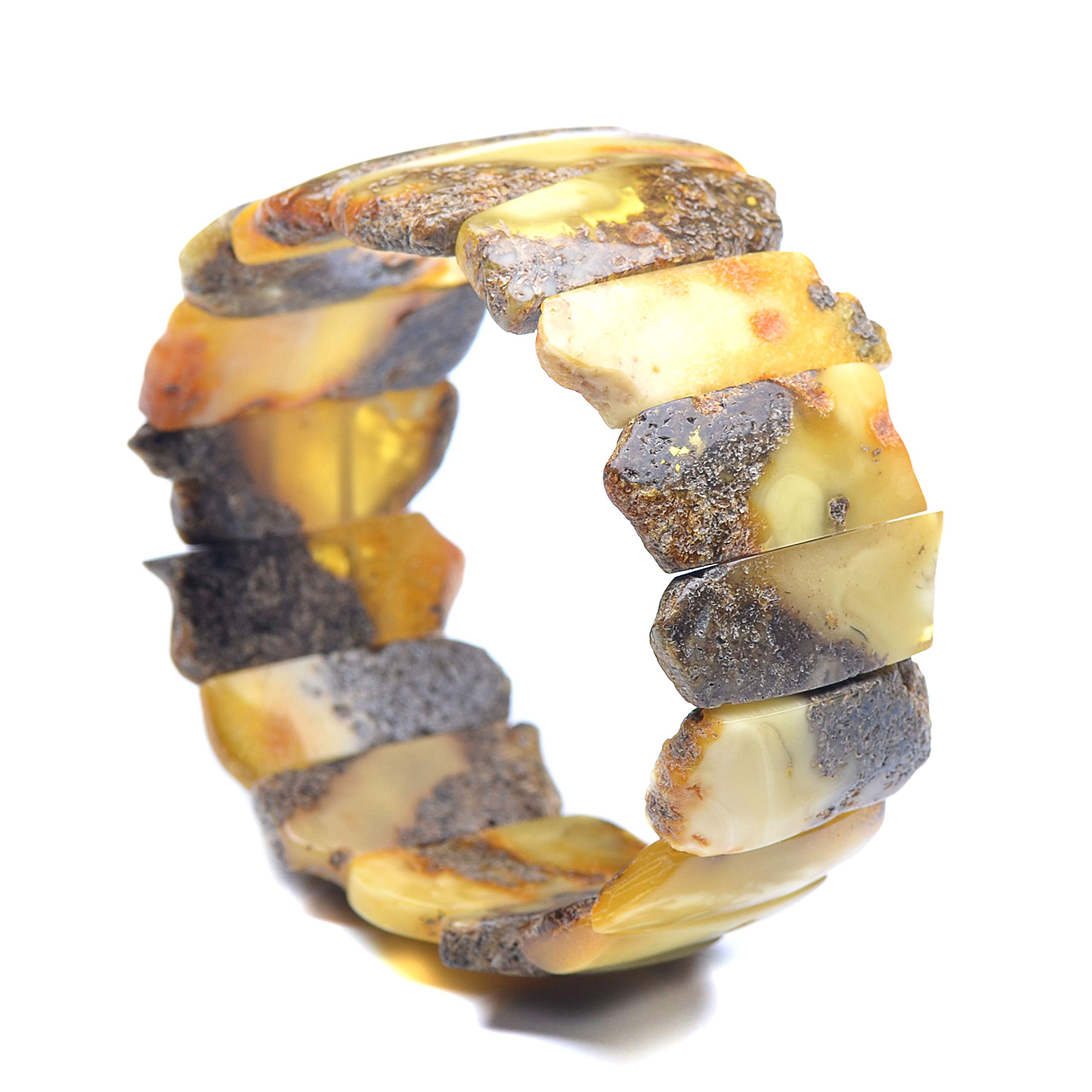 Exclusive Amber Bracelet - Unique Amber Jewelry - Unique Bracelet - Vintage Bracelet - Vintage Amber Bracelet by Genuine Amber (Image #2)