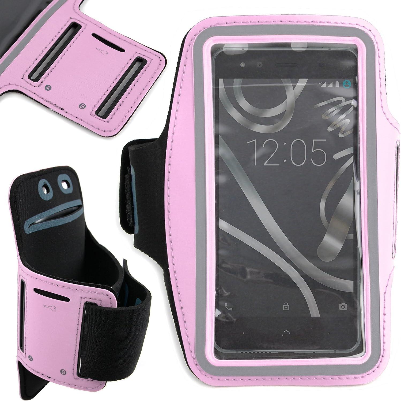 DURAGADGET Brazalete Deportivo Rosa para Smartphone BQ Aquaris U Lite/U Plus/U / X5 Plus: Amazon.es: Electrónica
