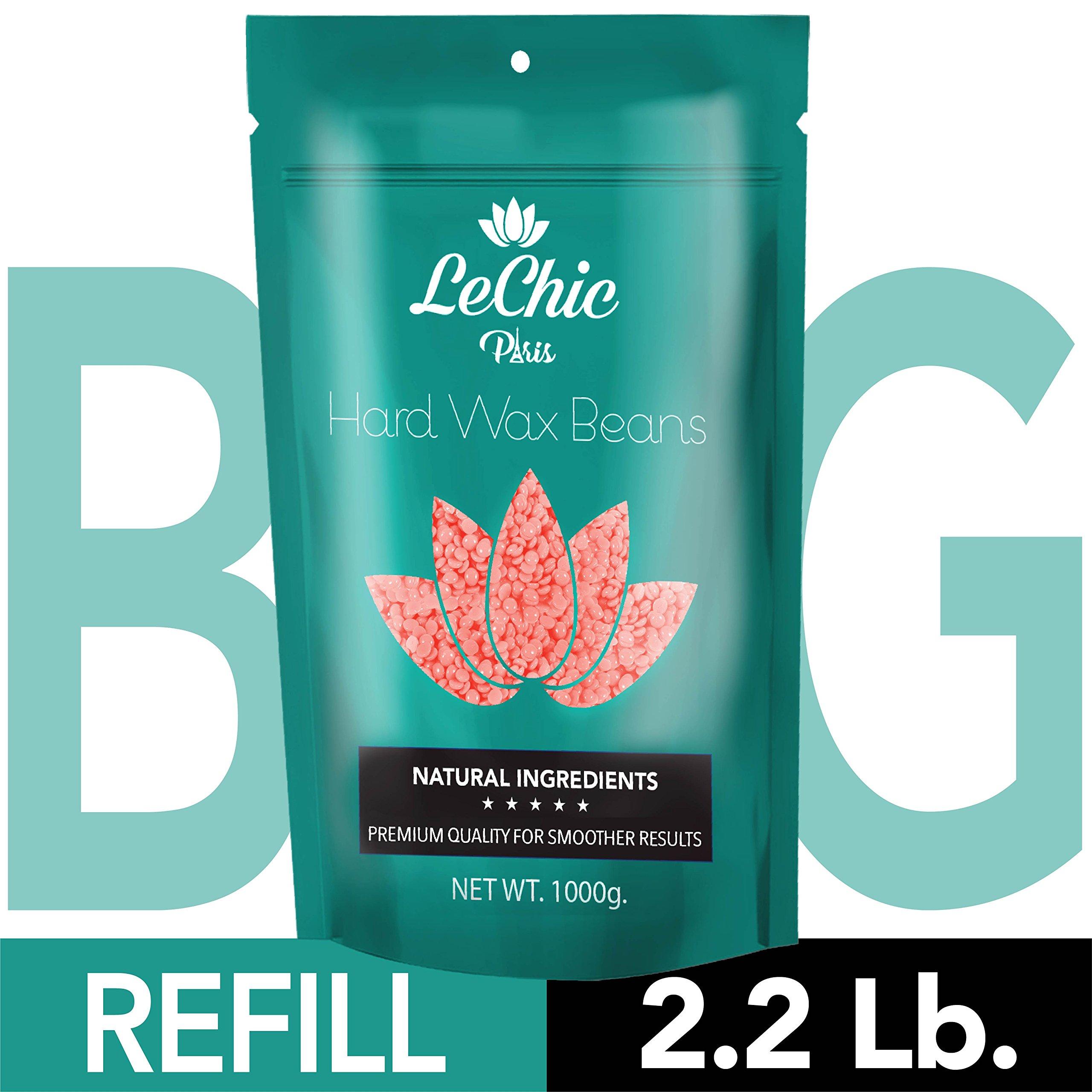 Wax Beans - Hard Wax Beans for Hair Removal - Brazilian Bikini Waxing - Pearl Wax - MEGA REFILL 35 oz. bag (2.2 LB) for Sensitive Body Skin by LeChic by LeChic (Image #9)