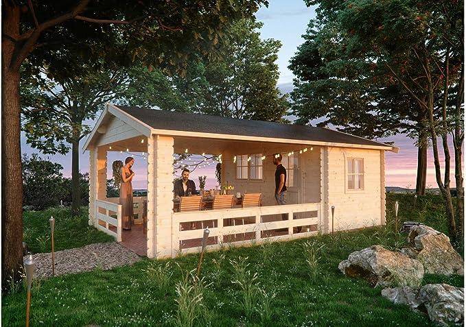 Cabaña Madera listones Casa Alicante tamaño 1, 380 x 513 cm: Amazon.es: Jardín
