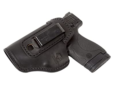 elentless Tactical The Defender Leather IWB Holster For S&W M&P Shield - GLOCK 17 19 22 23 32 33 / Springfield XD & XDS / Plus All Similar Sized Handguns
