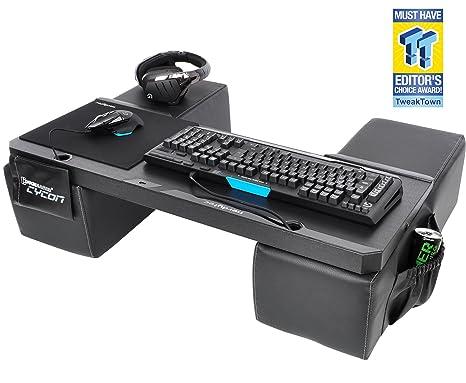 COUCHMASTER® Cycon | Black Edition (base ergonómica para jugar en el sofá, incl. cojines)