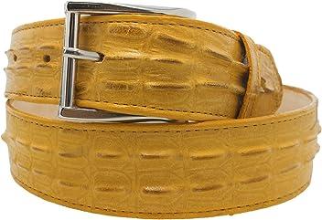 Mens Crocodile Tail Belt Print Leather Western Burgundy Buckle Cinto Rancho