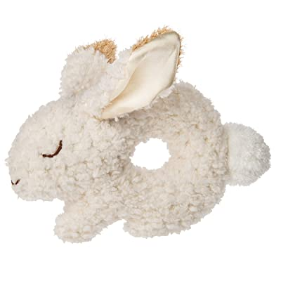 Mary Meyer Super Soft Soft Ring Rattle, Oatmeal Bunny, 7-Inches: Baby