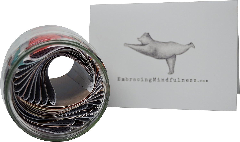 Achtsamkeits-Geschenkkorb 5 verschiedene Produkte im Set inklusive beliebtem Glas mit vielen /Übungen zum Achtsamkeitstraining
