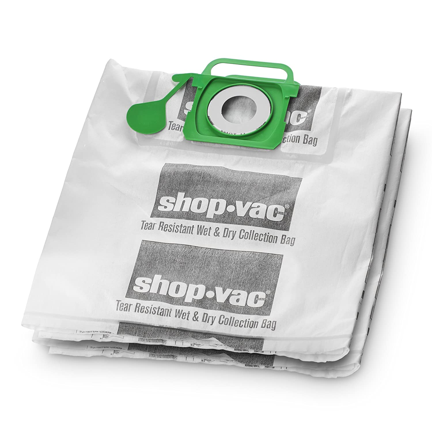 Shop-Vac 9021533 Genuine Wet/Dry Tear Resistant Collection Filter Bags, 5-10 gallon, White