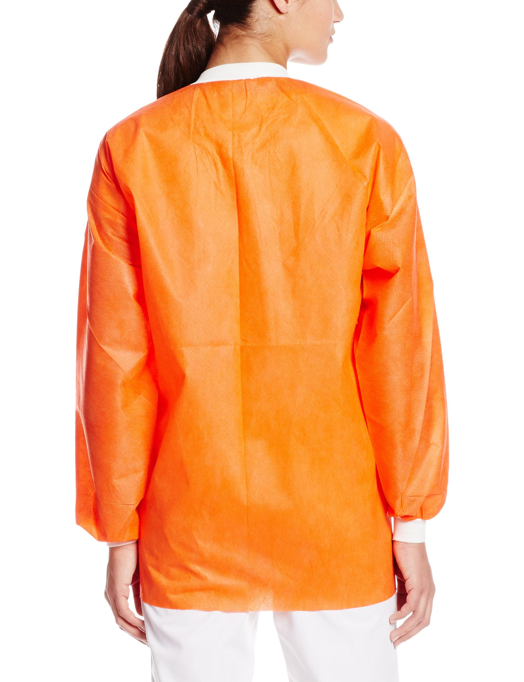 ValuMax 3630ORXL Extra-Safe, Wrinkle-Free, Noble Looking Disposable SMS Hip Length Jacket, Orange, XL, Pack of 10 by Valumax (Image #2)
