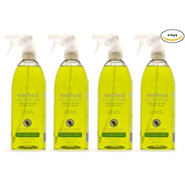 Method Naturally Derived All Purpose Cleaner Spray Bottles, Lime + Sea Salt, 28 FL Oz Mega Value, Pack of 4 (28 x 4, Total 112 Oz)