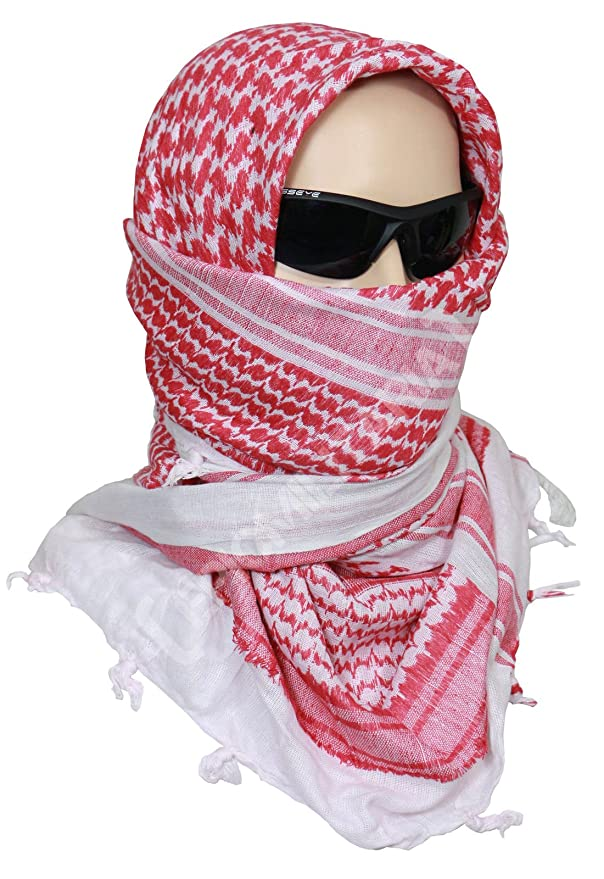 keffiyeh. amazon.com: egyptian cotton military shemagh tactical desert keffiyeh scarf wrap (red): clothing