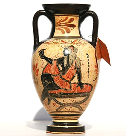 Amazon Greek Ceramic Amphora Jar Vase Pot Vessel Painting