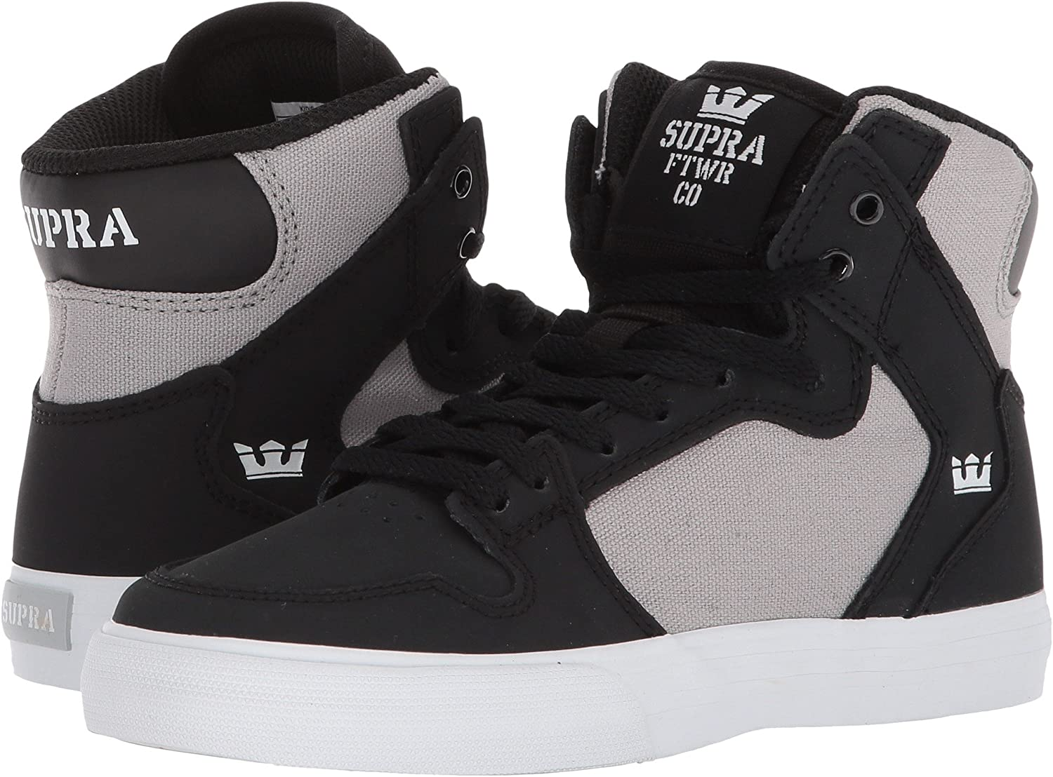 Supra Mens Skytop III Shoes Black/Light Grey/White
