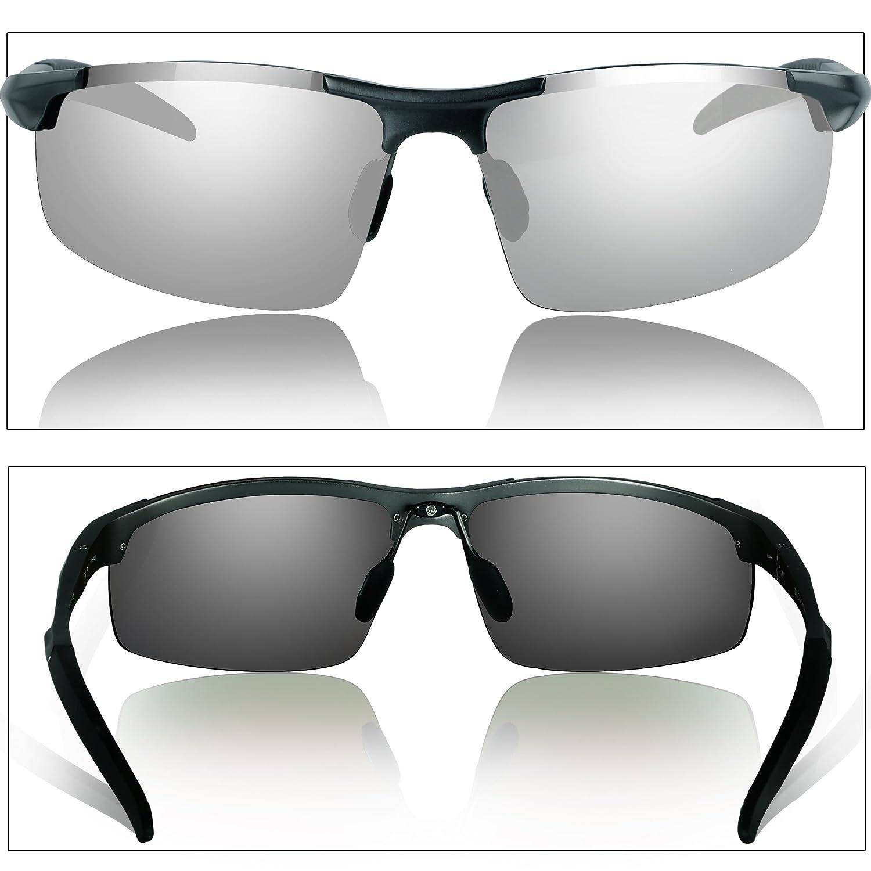 5a5ae5b061 Duco Gafas de sol deportivas polarizadas para hombre con ultraligero y  marco de metal irrompible, 100% UV400-8177S (Gunmetal-Plata): Amazon.es:  Ropa y ...