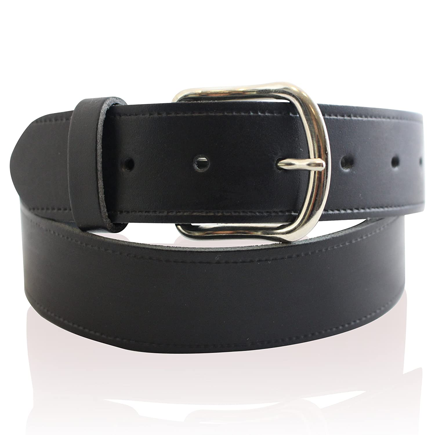 MENS REAL LEATHER 1.5 BLACK BELT FULL REAL LEATHER BELTS MADE IN ENGLAND 26-55'' ZACK HUNTER