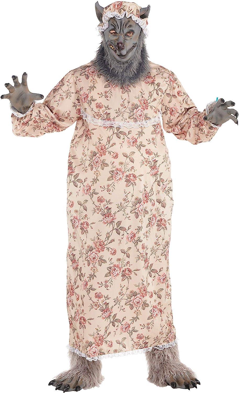 Amscan Dress Up- Abuela Lobo Vestir, Multicolor, X-Large Upto 50 ...