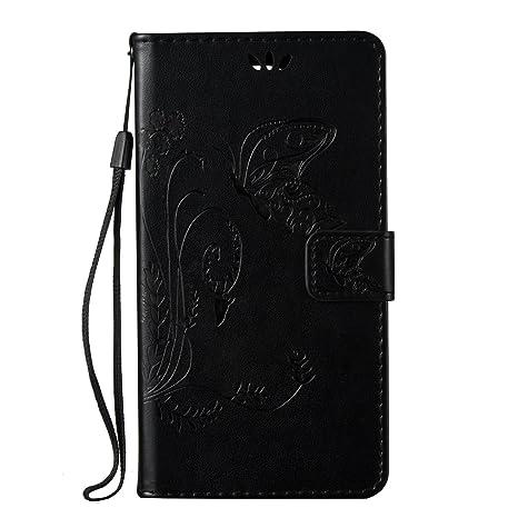ISAKEN Funda para Samsung Galaxy Note 3, Cartera Fundas de PU Cuero Leather Wallet Case Cover Carcasa Funda con Portátil Correa función de Soporte ...