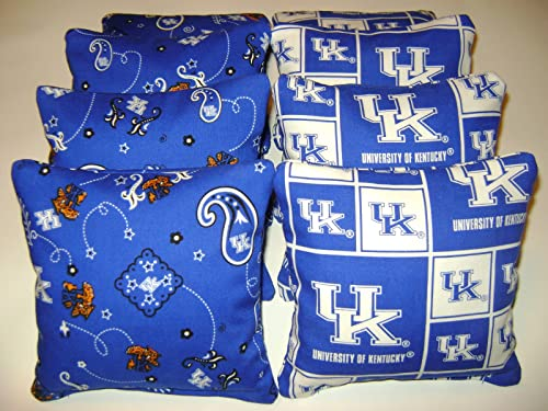 8 Cornhole University of Kentucky Bean Bag Corn Hole Wildcats Baggo Tailgate