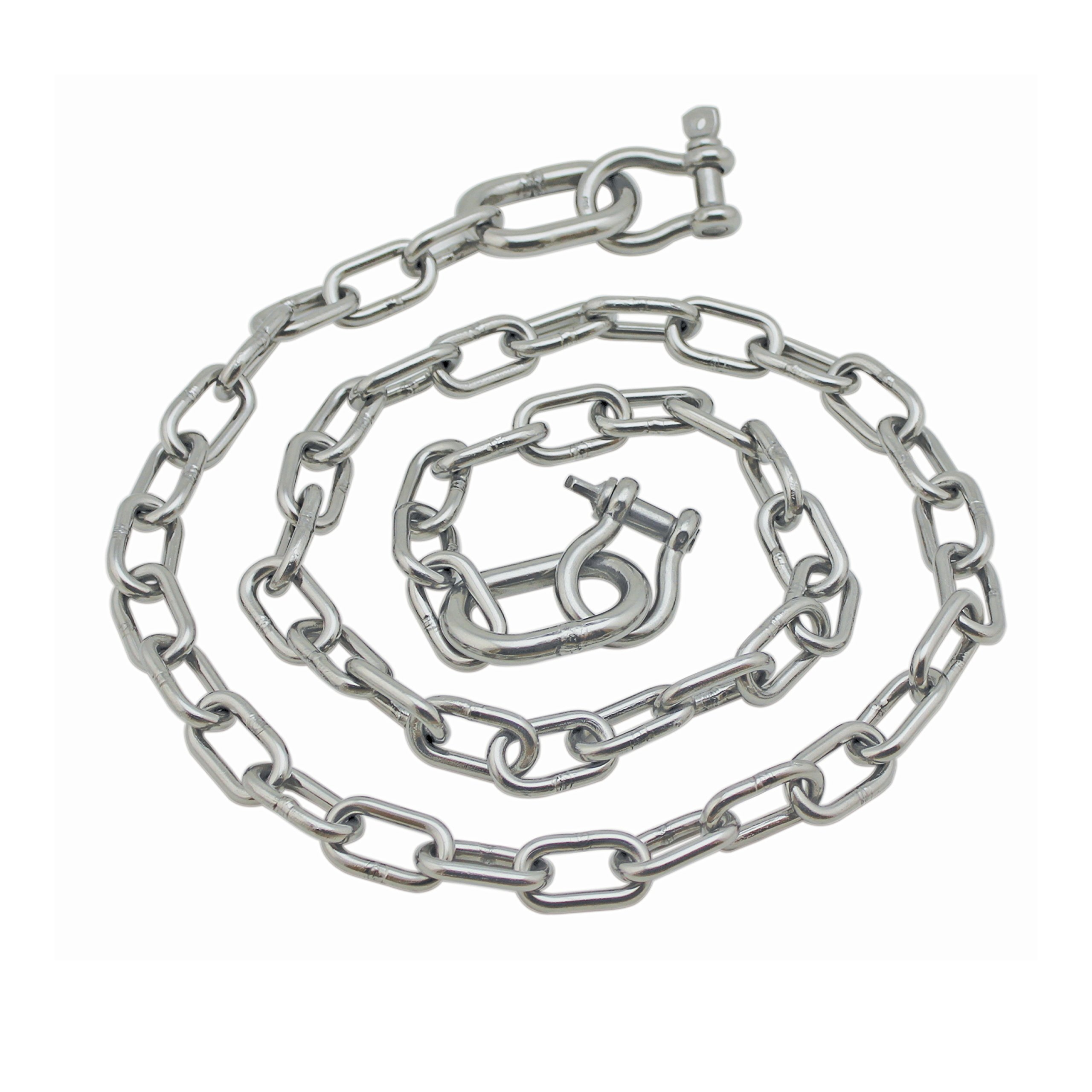 Extreme Max 3006.6578 BoatTector Anchor Chain - 1/4'' x 4' Stainless Steel with 5/16'' Shackles
