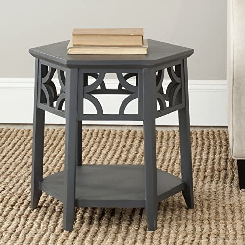 Safavieh American Homes Collection Connor Charcoal Grey Hexagon End Table