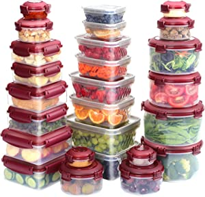 KITHELP 26 Pieces Food Storage Containers with Lids Freezer Containers for Food BPA-Free Plastic Containers for Food Storage Meat Fruit Vegetables Airtight Leak-Proof Food Containers