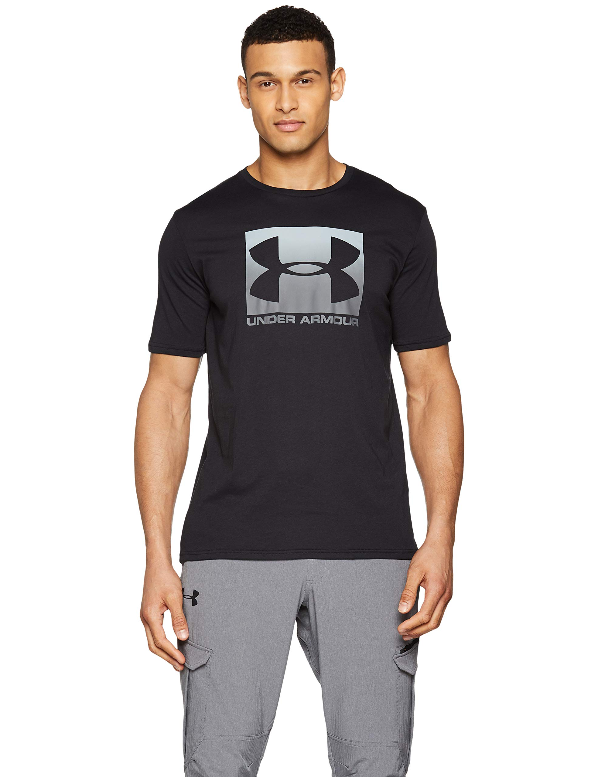 Under Armour Men's Boxed Sportstyle Short Sleeve Shirt, Black (001)/Graphite, XX-Large by Under Armour