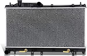 DNA Motoring OEM-RA-13092 Aluminum Core Radiator DPI,Black / Metallic