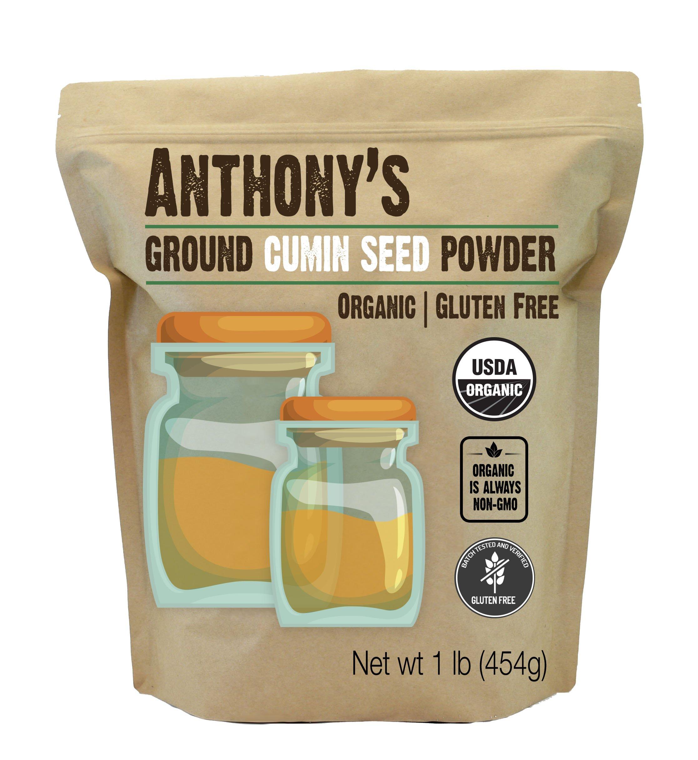 Anthony's Organic Ground Cumin (1lb), Gluten Free