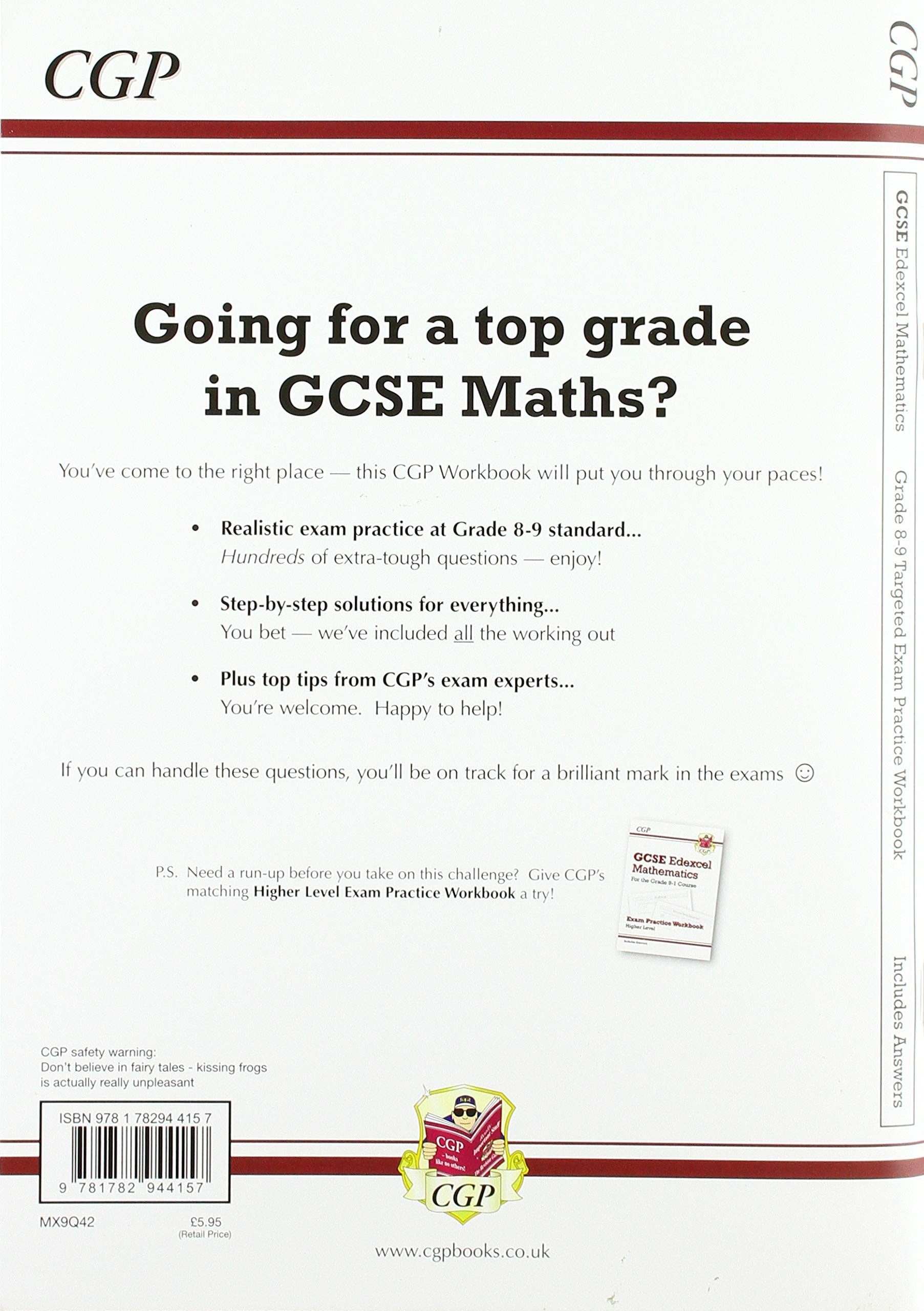GCSE Maths Edexcel Grade 8-9 Targeted Exam Practice Workbook