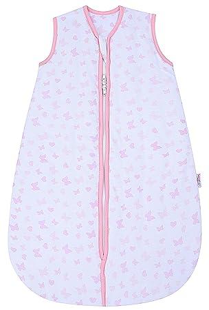 Snoozebag - Saco de Dormir Unisex 2.5 TOG bebé, 100% algodón, con Estampado Mariposas y Corazones de Talla: 0-6 Meses: Amazon.es: Ropa y accesorios