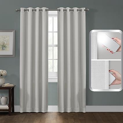 maytex 5833 smart curtains sheridan blackout window panel linen - Smart Curtains