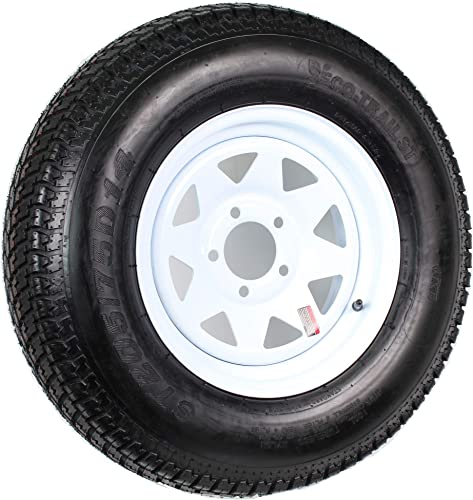 14 White Spoke Trailer Wheel