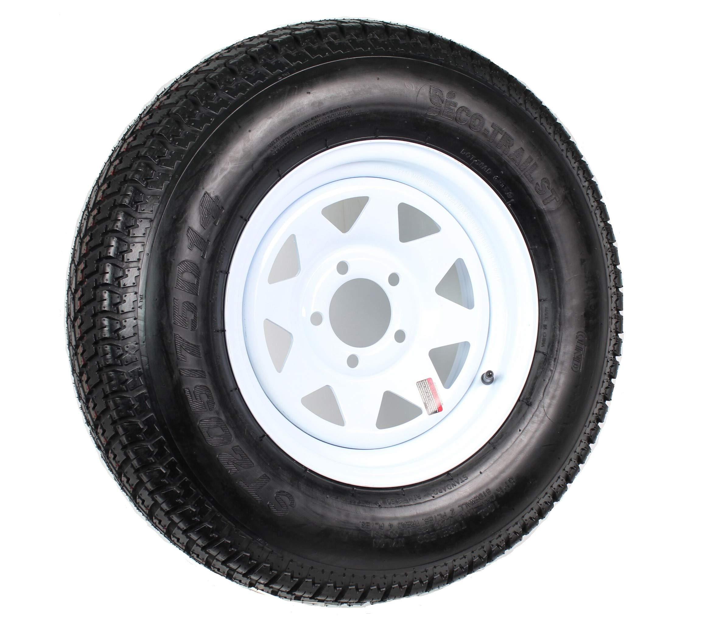 205/75D14 Trailer Tire (205/75D14 Trailer Tire - White Spoke Rim)