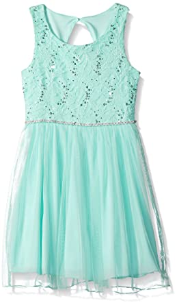 ca89cdd460 Amazon.com  Speechless Girls  Lace Sparkle Waist Party Dress  Clothing