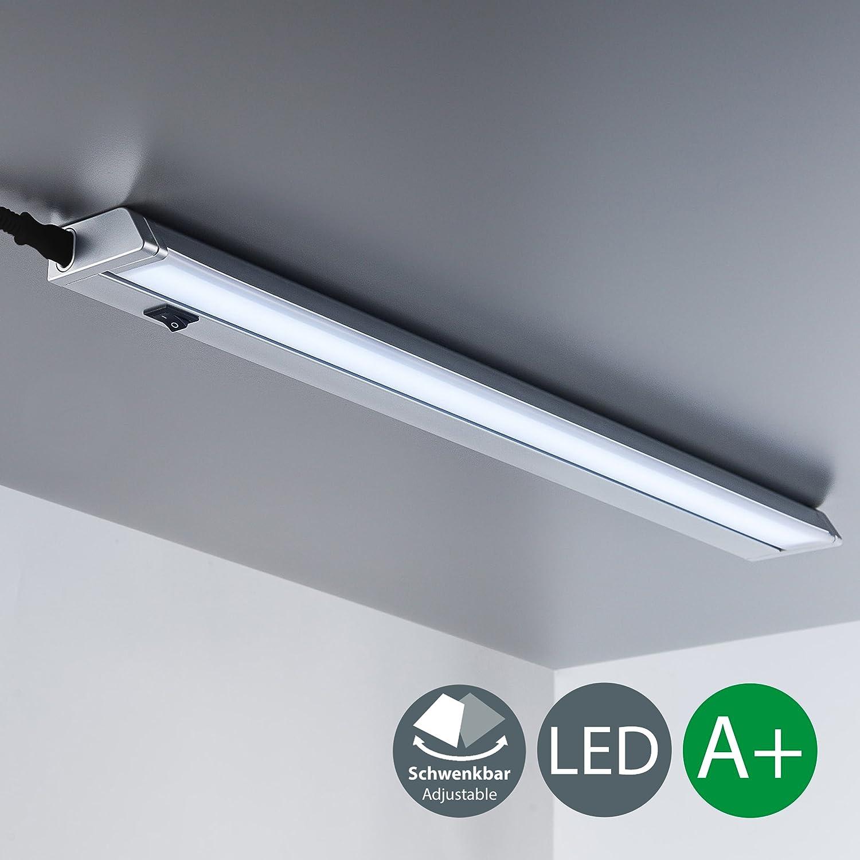 Pantalla Carcasa gris 56cm 8,5W, LED iluminacion bajo Mueble, Tubo fluorescente con interruptor de luz, blanca neutra 4000K, 840lm: Amazon.es: Iluminación