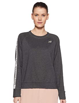 1b8f52e18a409 New Balance Women's Wt91157 Crew Neck Sweatshirt: Amazon.co.uk ...