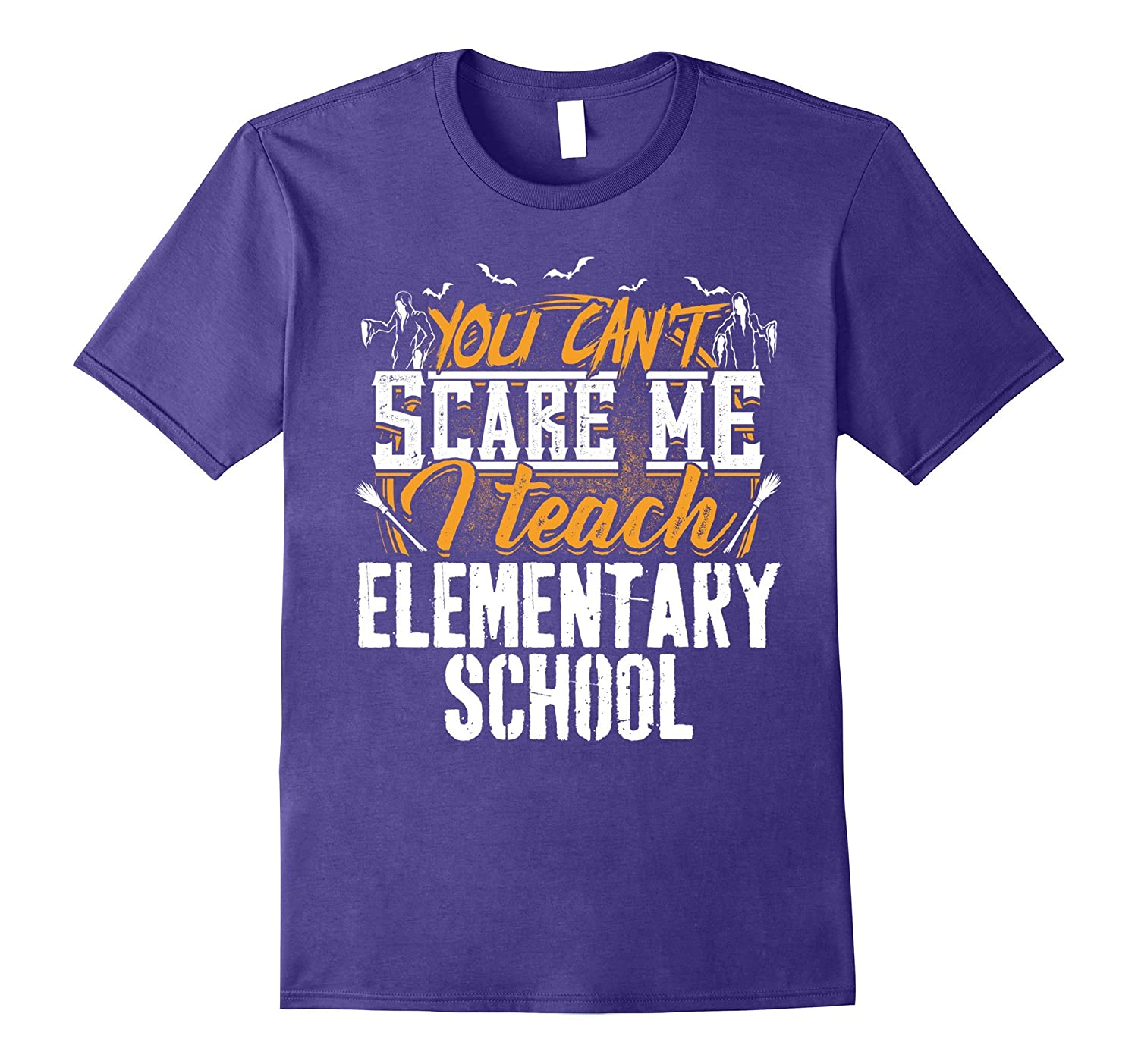 You Can't Scare Me I Teach Elementary School Halloween Tee-Art