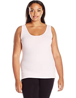 cc6ff51acdae8 Just My Size Women s Plus Size Stretch Jersey Lace Trim Tank at ...