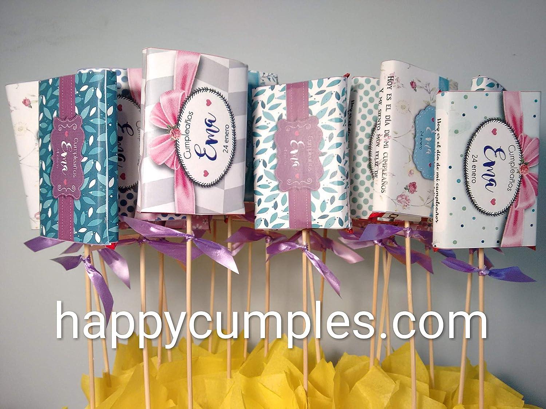 Centros de mesa Personalizados, Bodas Cumpleaños, Comunión: Amazon ...