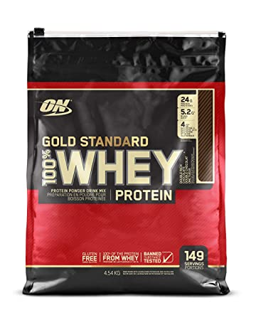 OPTIMUM NUTRITION GOLD STANDARD 100 Whey Protein Powder, Double Rich Chocolate, 10 Pounds Bags