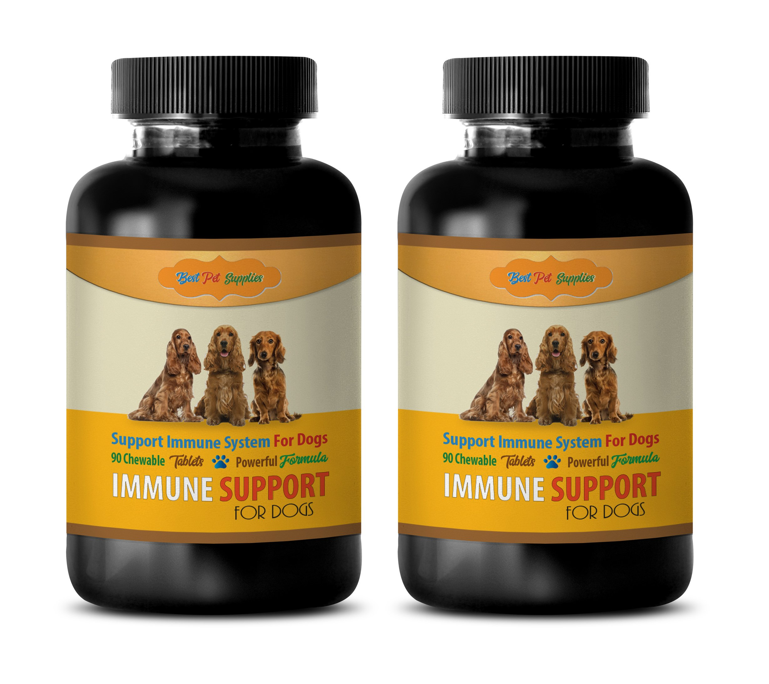 Immune System Support for Dogs - Powerful Immune Support for Dogs - Best Immune Formula - Chewy Treats - Milk Thistle for Dogs with high Liver enzymes - 180 Chews (2 Bottle) by BEST PET SUPPLIES LLC