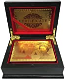 £50 Pound Gold Playing Cards 24k Carat Gold Plated Game Poker Gift Box Deck (Deluxe Quality Box)