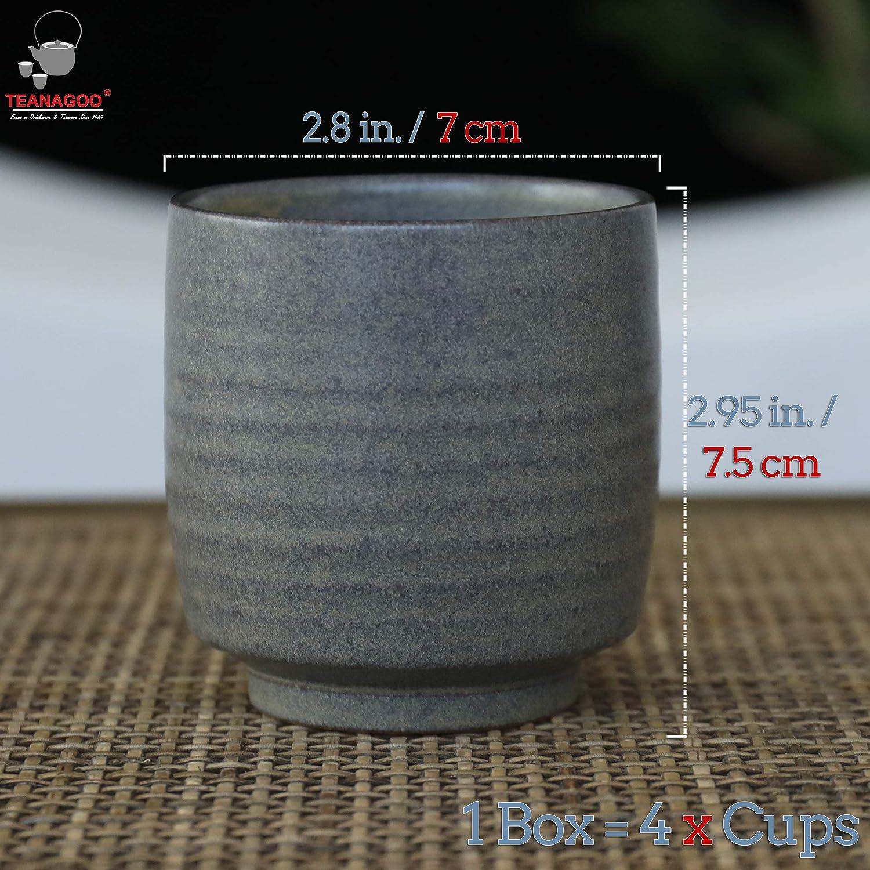 White Ru Ware 19 oz TEANAGOO TP07 Japan Porcelain Tea Pot with Filter and Metal Handle