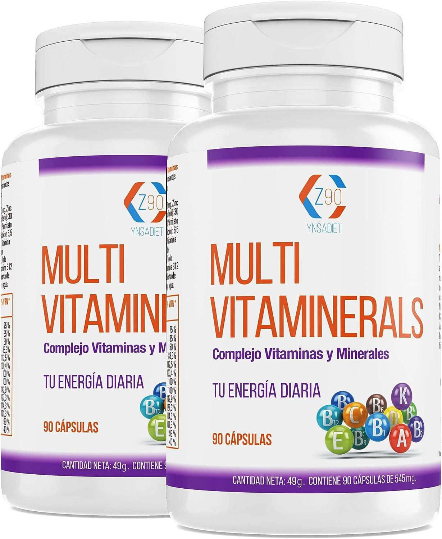 Vitaminas, minerales, complejo multimineral, cansancio y fatiga, hierro, acido fólico, b12, bienestar, 180 capsulas. (MULTIVITAMINAS PACK)