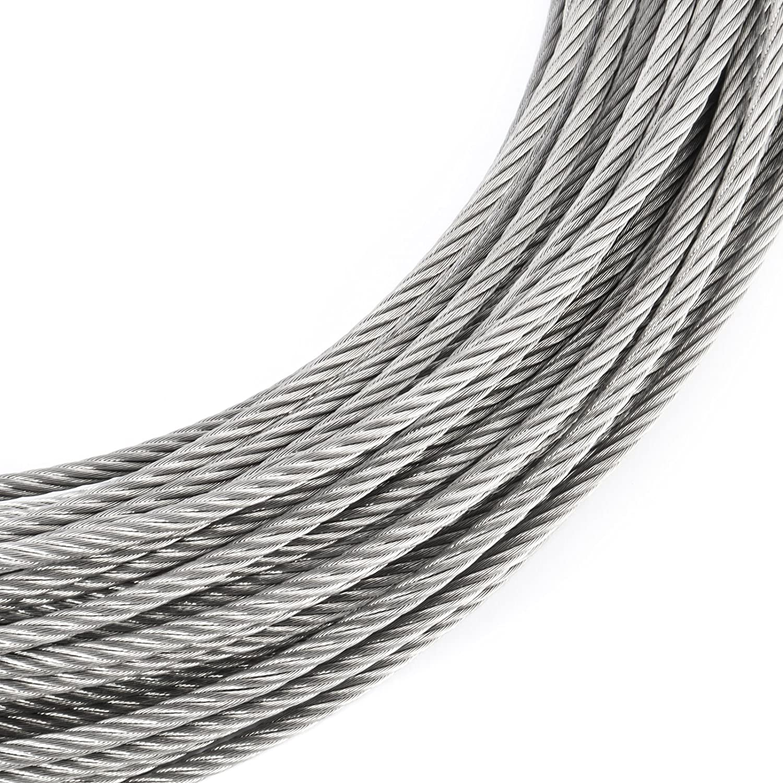 5m EDELSTAHL DRAHTSEIL 1mm 7x7 Stahlseil Seil Draht Stahl V4A ...