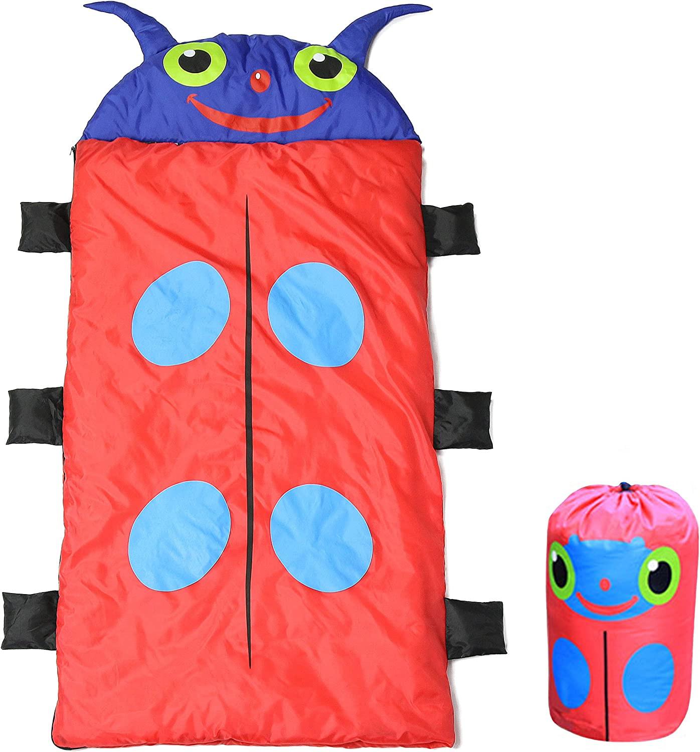Sanfiago Child Sleeping Bag Premium Fabric Exterior Cotton Interior Matching A Storage Bag Camping Indoor Outdoor Use