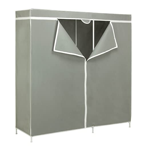Amazon.com: Honey-Can-Do WRD-03746 Steel Frame Wardrobe Closet ...