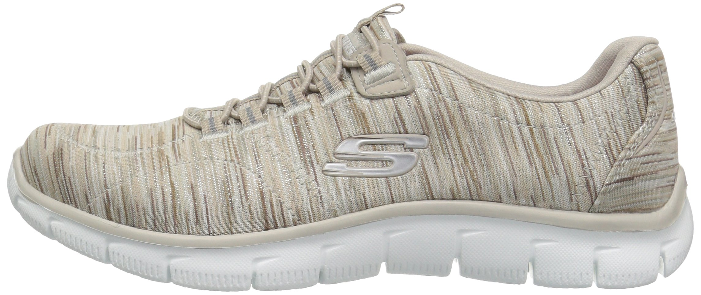 Skechers Women's Empire Game On Memory Foam Sneakers Shoes, Taupe, 6 B(M) US by Skechers (Image #5)